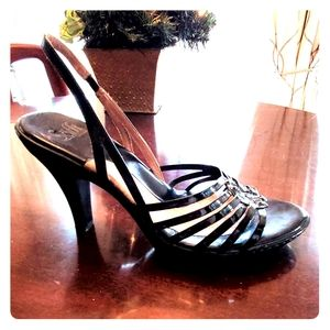 Sofft Black Patent Leather Heels Size 10 Wide